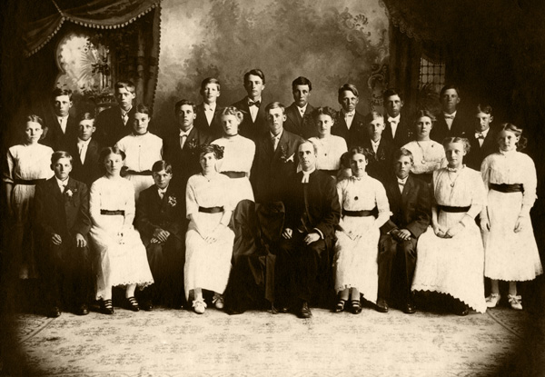 1911 Confirmation Class - First Lutheran Church of Cosmos